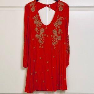 Free People Sweet Tennessee Mini Dress, L